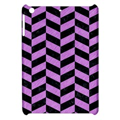 Chevron1 Black Marble & Purple Colored Pencil Apple Ipad Mini Hardshell Case by trendistuff