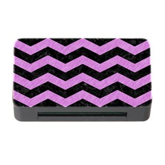 Chevron3 Black Marble & Purple Colored Pencil Memory Card Reader With Cf by trendistuff