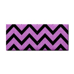 Chevron9 Black Marble & Purple Colored Pencil Cosmetic Storage Cases by trendistuff