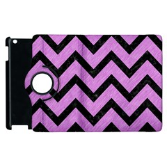 Chevron9 Black Marble & Purple Colored Pencil Apple Ipad 3/4 Flip 360 Case by trendistuff