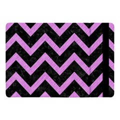 Chevron9 Black Marble & Purple Colored Pencil (r) Apple Ipad Pro 10 5   Flip Case