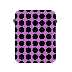 Circles1 Black Marble & Purple Colored Pencil Apple Ipad 2/3/4 Protective Soft Cases by trendistuff