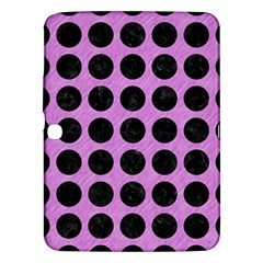 Circles1 Black Marble & Purple Colored Pencil Samsung Galaxy Tab 3 (10 1 ) P5200 Hardshell Case  by trendistuff