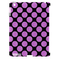 Circles2 Black Marble & Purple Colored Pencil (r) Apple Ipad 3/4 Hardshell Case (compatible With Smart Cover) by trendistuff