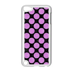 Circles2 Black Marble & Purple Colored Pencil (r) Apple Ipod Touch 5 Case (white) by trendistuff