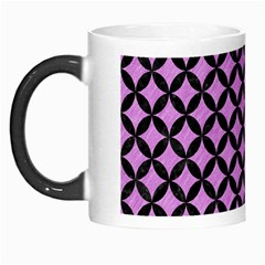 Circles3 Black Marble & Purple Colored Pencil Morph Mugs by trendistuff