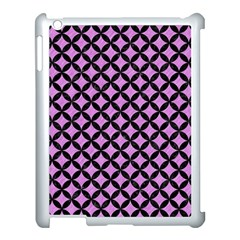 Circles3 Black Marble & Purple Colored Pencil Apple Ipad 3/4 Case (white) by trendistuff