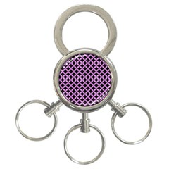 Circles3 Black Marble & Purple Colored Pencil (r) 3 Ring Key Chains by trendistuff