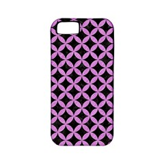 Circles3 Black Marble & Purple Colored Pencil (r) Apple Iphone 5 Classic Hardshell Case (pc+silicone) by trendistuff