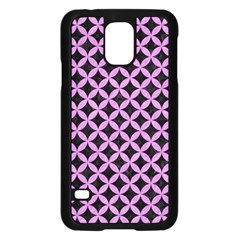 Circles3 Black Marble & Purple Colored Pencil (r) Samsung Galaxy S5 Case (black) by trendistuff