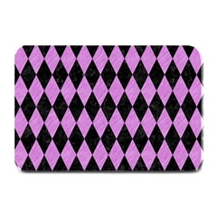 Diamond1 Black Marble & Purple Colored Pencil Plate Mats by trendistuff