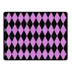 Diamond1 Black Marble & Purple Colored Pencil Fleece Blanket (small) by trendistuff