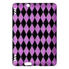 Diamond1 Black Marble & Purple Colored Pencil Kindle Fire Hdx Hardshell Case by trendistuff