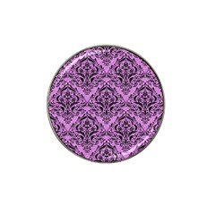 Damask1 Black Marble & Purple Colored Pencil Hat Clip Ball Marker (10 Pack) by trendistuff
