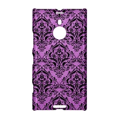 Damask1 Black Marble & Purple Colored Pencil Nokia Lumia 1520 by trendistuff