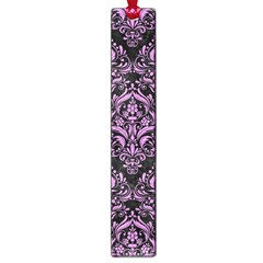 Damask1 Black Marble & Purple Colored Pencil (r) Large Book Marks by trendistuff