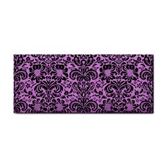 Damask2 Black Marble & Purple Colored Pencil Cosmetic Storage Cases by trendistuff