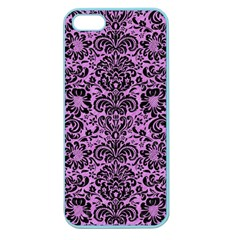 Damask2 Black Marble & Purple Colored Pencil Apple Seamless Iphone 5 Case (color) by trendistuff