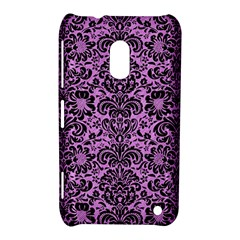 Damask2 Black Marble & Purple Colored Pencil Nokia Lumia 620 by trendistuff