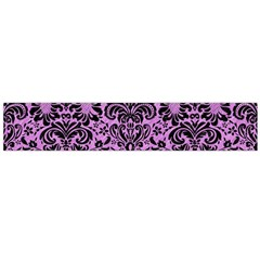 Damask2 Black Marble & Purple Colored Pencil Flano Scarf (large) by trendistuff