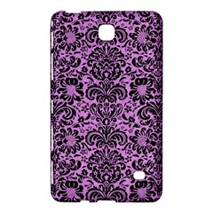 Damask2 Black Marble & Purple Colored Pencil Samsung Galaxy Tab 4 (7 ) Hardshell Case  by trendistuff