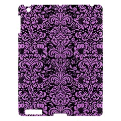 Damask2 Black Marble & Purple Colored Pencil (r) Apple Ipad 3/4 Hardshell Case by trendistuff