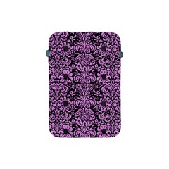 Damask2 Black Marble & Purple Colored Pencil (r) Apple Ipad Mini Protective Soft Cases by trendistuff