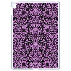 Damask2 Black Marble & Purple Colored Pencil (r) Apple Ipad Pro 9 7   White Seamless Case by trendistuff
