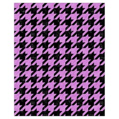 Houndstooth1 Black Marble & Purple Colored Pencil Drawstring Bag (small) by trendistuff