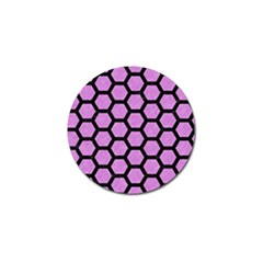 Hexagon2 Black Marble & Purple Colored Pencil Golf Ball Marker (10 Pack) by trendistuff