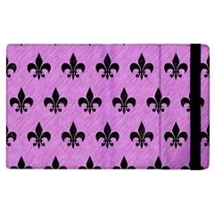 Royal1 Black Marble & Purple Colored Pencil (r) Apple Ipad 2 Flip Case by trendistuff
