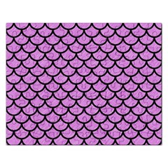 Scales1 Black Marble & Purple Colored Pencil Rectangular Jigsaw Puzzl by trendistuff