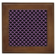 Scales1 Black Marble & Purple Colored Pencil (r) Framed Tiles by trendistuff
