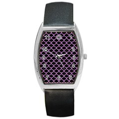 Scales1 Black Marble & Purple Colored Pencil (r) Barrel Style Metal Watch by trendistuff