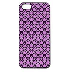 Scales2 Black Marble & Purple Colored Pencil Apple Iphone 5 Seamless Case (black) by trendistuff