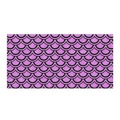Scales2 Black Marble & Purple Colored Pencil Satin Wrap by trendistuff