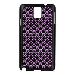 Scales2 Black Marble & Purple Colored Pencil (r) Samsung Galaxy Note 3 N9005 Case (black) by trendistuff