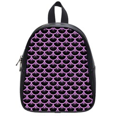 Scales3 Black Marble & Purple Colored Pencil (r) School Bag (small) by trendistuff