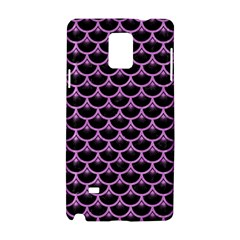 Scales3 Black Marble & Purple Colored Pencil (r) Samsung Galaxy Note 4 Hardshell Case by trendistuff