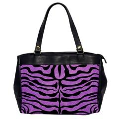Skin2 Black Marble & Purple Colored Pencil Office Handbags by trendistuff