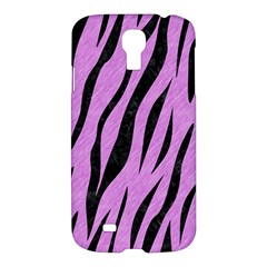 Skin3 Black Marble & Purple Colored Pencil Samsung Galaxy S4 I9500/i9505 Hardshell Case by trendistuff
