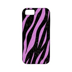 Skin3 Black Marble & Purple Colored Pencil (r) Apple Iphone 5 Classic Hardshell Case (pc+silicone) by trendistuff
