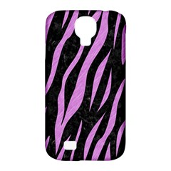 Skin3 Black Marble & Purple Colored Pencil (r) Samsung Galaxy S4 Classic Hardshell Case (pc+silicone) by trendistuff