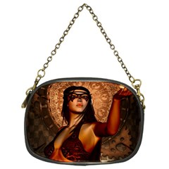 Wonderful Fantasy Women With Mask Chain Purses (one Side)  by FantasyWorld7