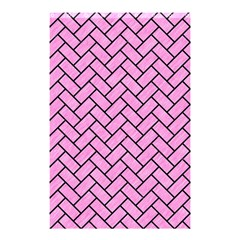 Brick2 Black Marble & Pink Colored Pencil Shower Curtain 48  X 72  (small)  by trendistuff