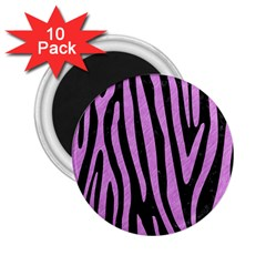 Skin4 Black Marble & Purple Colored Pencil 2 25  Magnets (10 Pack)  by trendistuff