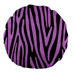 Skin4 Black Marble & Purple Colored Pencil Large 18  Premium Flano Round Cushions by trendistuff