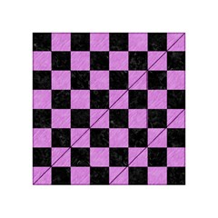 Square1 Black Marble & Purple Colored Pencil Acrylic Tangram Puzzle (4  X 4 ) by trendistuff