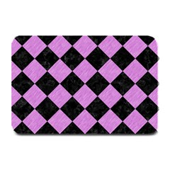 Square2 Black Marble & Purple Colored Pencil Plate Mats by trendistuff