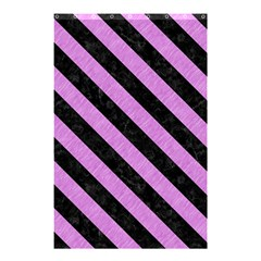 Stripes3 Black Marble & Purple Colored Pencil Shower Curtain 48  X 72  (small)  by trendistuff